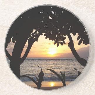 Strand-Sonnenuntergang Mauis Hawaii Getränkeuntersetzer