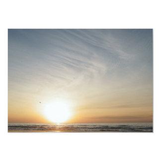 Strand-Sonnenuntergang-Sonnenaufgang-Feier Karte