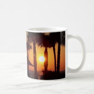 Strand-Sonnenuntergang-Tasse Tasse