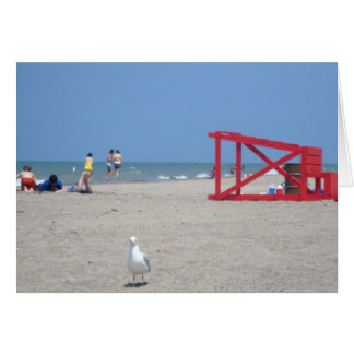 Strand-Spaß notecard Karte