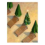 Strand-Stuhl-Weihnachtspostkarte Postkarten