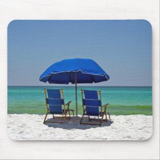 Strand-Stühle Mousepad