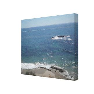 Strand-Szene Leinwanddruck