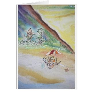 Strand-Tag Hula! Karte