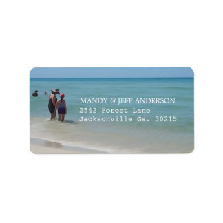 Strand-Tagesadressen-Etiketten Adressaufkleber