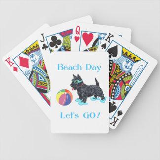 Strand-Tagesscottie-Hund Bicycle Spielkarten