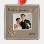 Strand-Thema-Hochzeits-Foto-Verzierung Weihnachtsornament