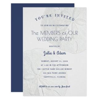 Strand-Themed Hochzeits-Party-Feier-Einladung 12,7 X 17,8 Cm Einladungskarte