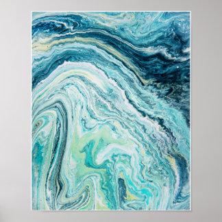 Strand-Topographie des Farbfleck-#1 Poster