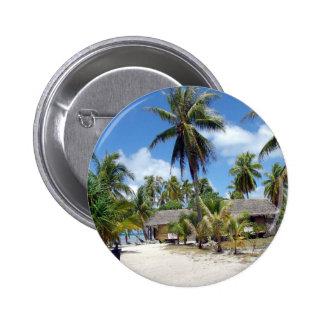 Strand-tropisches Bett-Frühstück Anstecknadelbuttons