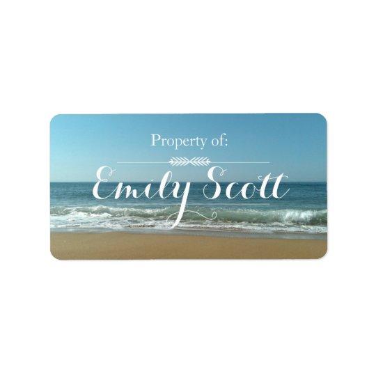 Strand-Ufer-Namen-Aufkleber Adress Aufkleber