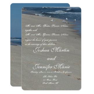 Strand-und Ozean-Hochzeits-Einladungen Karte