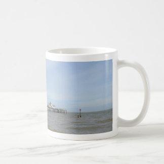 Strand und Pier in Southwold Suffolk Kaffeetasse