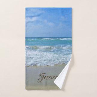 Strand-und Seepersonalisierter Name Handtuch