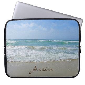 Strand-und Seepersonalisierter Name Laptopschutzhülle
