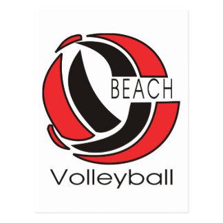 Strand-Volleyball Postkarte
