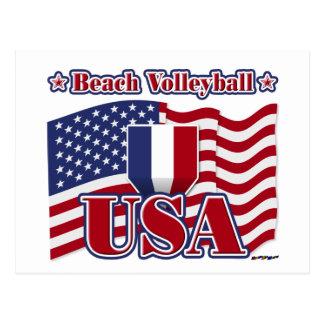 Strand-Volleyball USA Postkarte