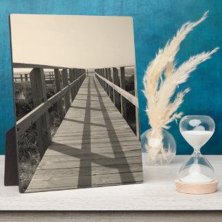 Strand-Weg im Sepia Fotoplatte