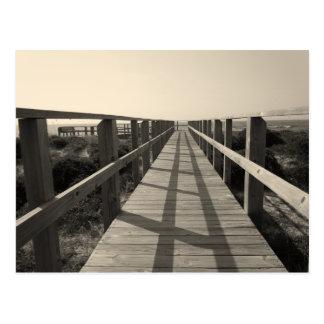 Strand-Weg im Sepia Postkarte