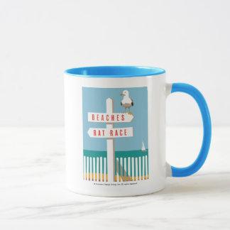 Strand-Wegweiser Tasse