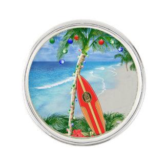 Strand-Weihnachten Anstecknadel