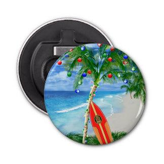 Strand-Weihnachten Runder Flaschenöffner