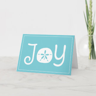 Beach Christmas Holiday Joy Sand Dollar