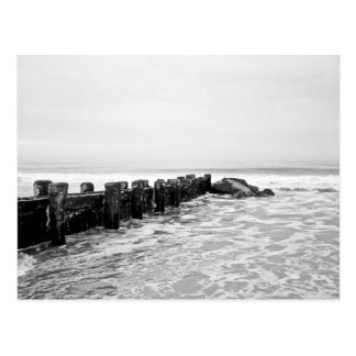 Strand-Wellenbrecher - weit Postkarte