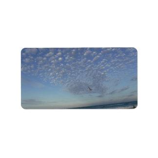 Strand-Wolken Adressaufkleber