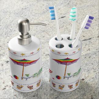 Strand-Zahnbürste-Halter und Seifen-Zufuhr Badset