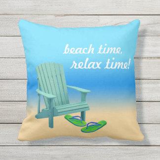 Strand-Zeit, entspannen sich Zeit! Kissen