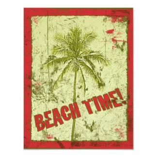 Strand-Zeit! Palme-Party Einladungen