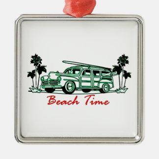 Strand-Zeit Silbernes Ornament
