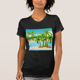 Strandansicht an der Tageszeit T-Shirt