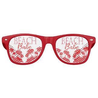 Strandbaby-Party schattiert Koralle Retro Sonnenbrillen