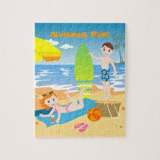 Strandgeburtstags-Party für Kinder Puzzle