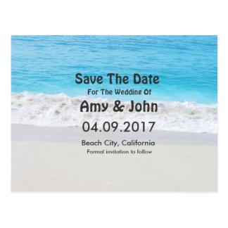 Strandhochzeit Save the Date beach1 Postkarte