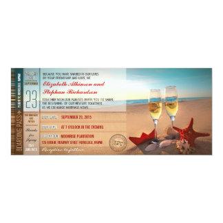 Strandhochzeitseinladungen - Boardingdurchlaufkart Einladungskarten