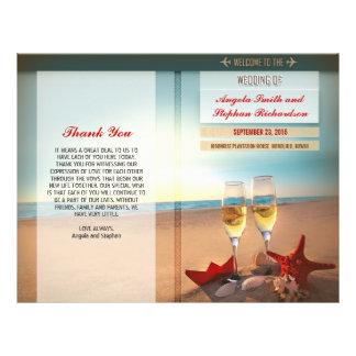 Strandhochzeitsprogramme Individuelle Flyer