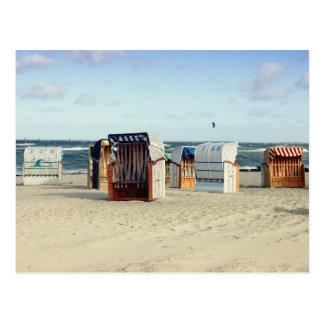 Strandkorb Postkarte