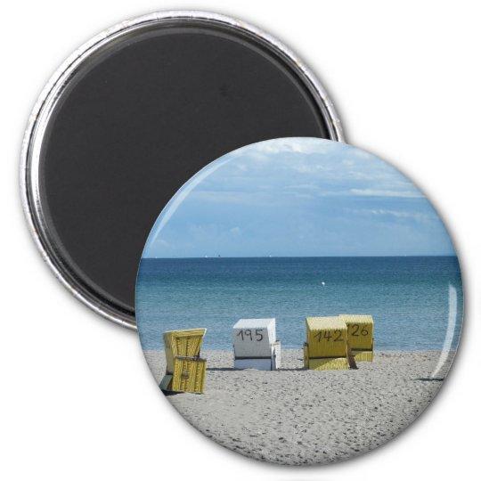 Strandkörbe Runder Magnet 5,7 Cm