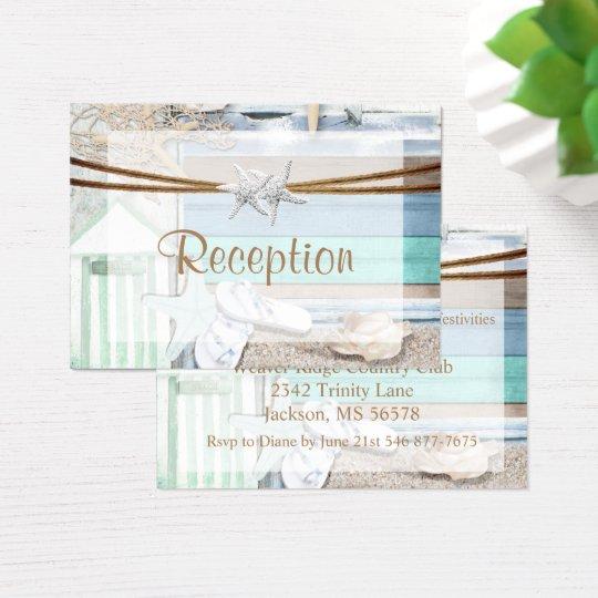 Strandnahe Hochzeit Visitenkarte