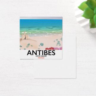 Strandplakat Antibes Frankreich Quadratische Visitenkarte