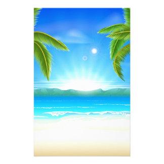 StrandSommerferienhintergrund Bedrucktes Papier
