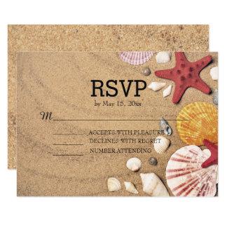 StrandStarfish und Seashells, die UAWG Wedding 8,9 X 12,7 Cm Einladungskarte