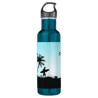 Strandsurfer-Name-Wasserflaschen Edelstahlflasche