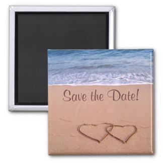 Strandthema Save the Date! Kühlschrankmagnet