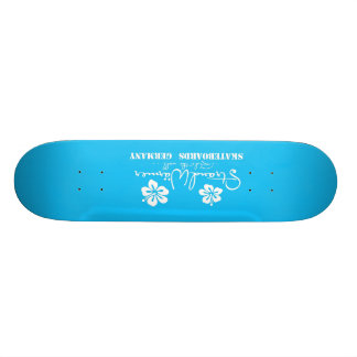 "StrandWärmer Skateboard ""ride the wall"" blue 19,1 Cm Old School Skateboard Deck"