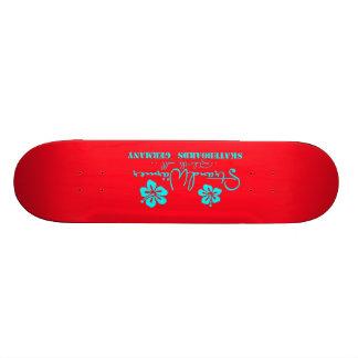 "StrandWärmer Skateboard ""ride the wall"" red Personalisierte Skateboards"