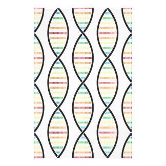 Stränge des Regenbogen-DNS Briefpapier